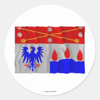 Örebro län waving flag round stickers