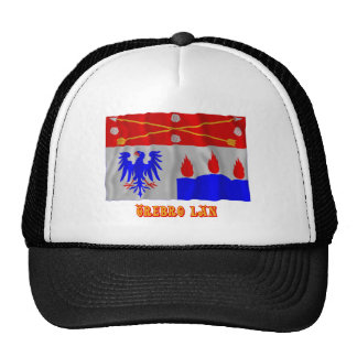 Örebro län waving flag with name mesh hats