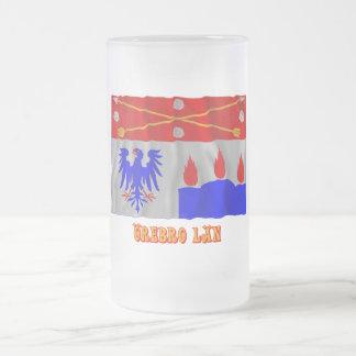 Örebro län waving flag with name coffee mug