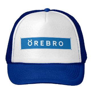 Orebro, Swedish road sign Mesh Hat