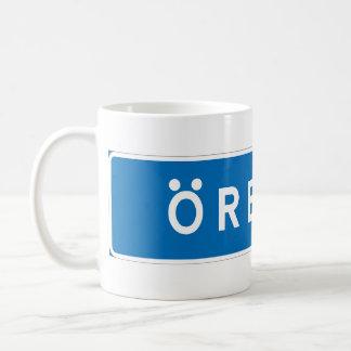 Orebro, Swedish road sign Mugs