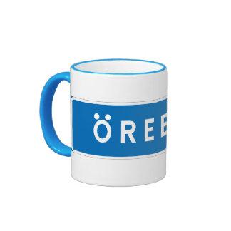 Orebro, Swedish road sign Mug