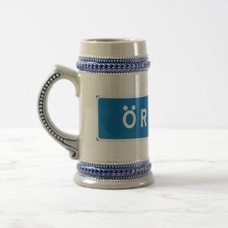 Orebro, Swedish road sign Coffee Mug