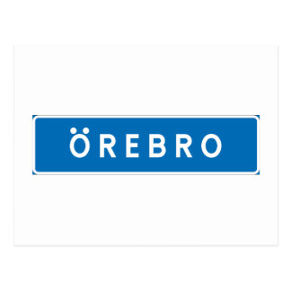 Orebro, Swedish road sign Postcards