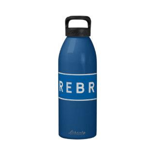 Orebro, Swedish road sign Water Bottle