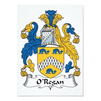 O'Regan Family Crest Card
