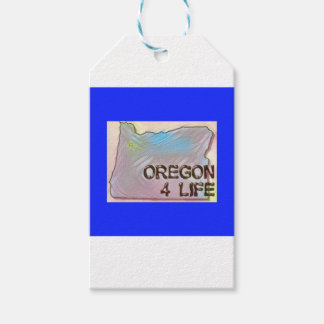 """Oregon 4 Life"" State Map Pride Design Gift Tags"