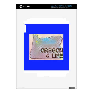 """Oregon 4 Life"" State Map Pride Design iPad 3 Skin"