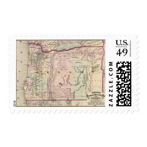 Oregon 5 timbres postales