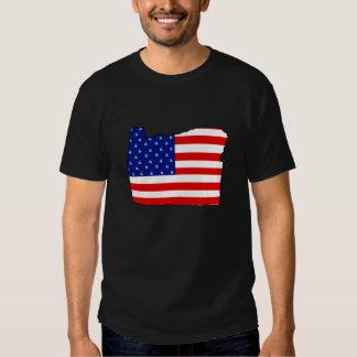 Oregon American Flag Patriotic Shirt