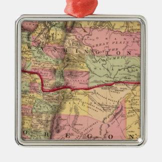 Oregon, and the Territory of Washington Metal Ornament