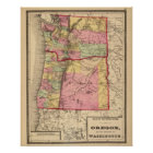 Oregon, and the Territory of Washington Poster