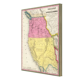 Oregon and Upper California Canvas Print