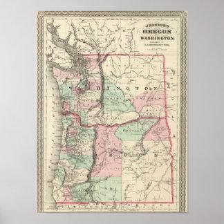 Oregon and Washington Poster