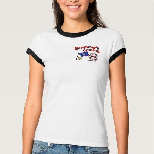 Oregon Anti ObamaCare – November's Coming! T-shirt