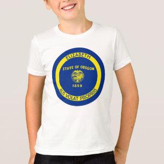 Oregon Beaver State Personalized Flag T-Shirt