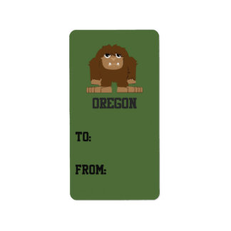 Oregon Bigfoot Label