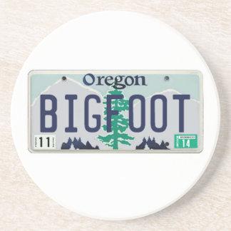 Oregon Bigfoot License Plate Beverage Coasters