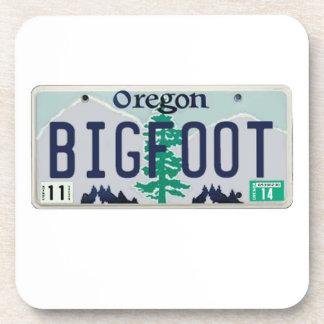 Oregon Bigfoot License Plate Drink Coaster