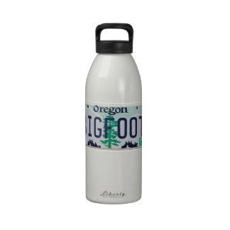 Oregon Bigfoot License Plate Water Bottles