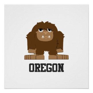 Oregon Bigfoot Poster