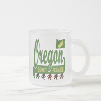 Oregon Bigfoot Research 10 Oz Frosted Glass Coffee Mug