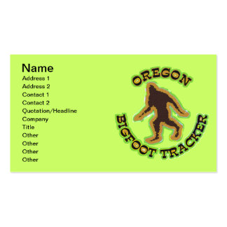 Oregon Bigfoot Tracker Double-Sided Standard Business Cards (Pack Of 100)