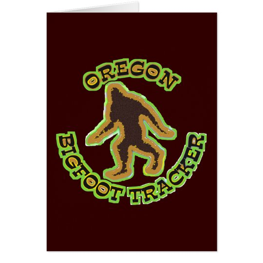 Oregon Bigfoot Tracker Card
