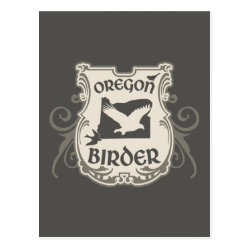 Postcard with Oregon Birder design