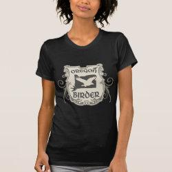 Women's American Apparel Fine Jersey Short Sleeve T-Shirt with Oregon Birder design