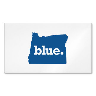 OREGON BLUE STATE MAGNETIC BUSINESS CARD