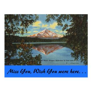 Oregon, capilla del Mt., lago perdido Tarjetas Postales