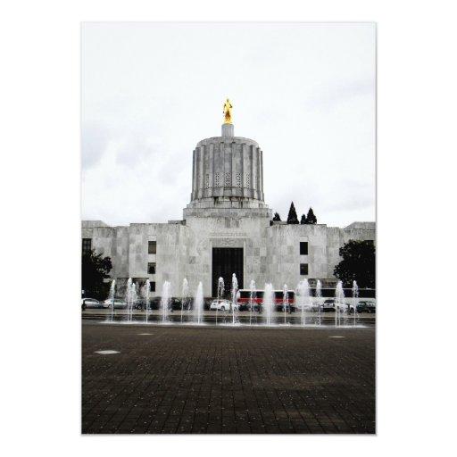 Oregon Capitol 5x7 Paper Invitation Card