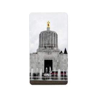 Oregon Capitol Personalized Address Label