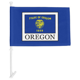 Oregon Car Flag