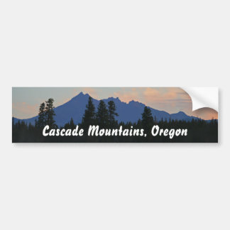Oregon Cascades at Dawn Bumper Sticker