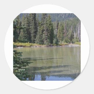 Oregon Cascades, Devils Lake Round Sticker
