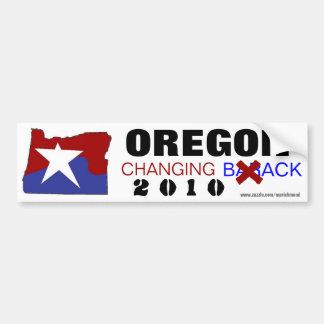Oregon Changing Back 2010 Car Bumper Sticker