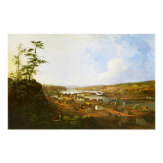 Oregon City on the Willamette River Poster