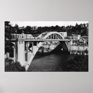 Oregon City, OR Highway Bridge over Willamette Poster