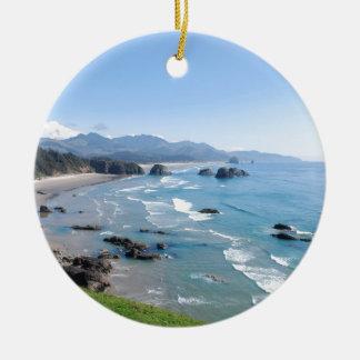 Oregon Coast Ceramic Ornament