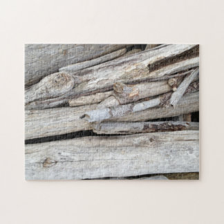 Oregon Coast Driftwood Stack Jigsaw Puzzle
