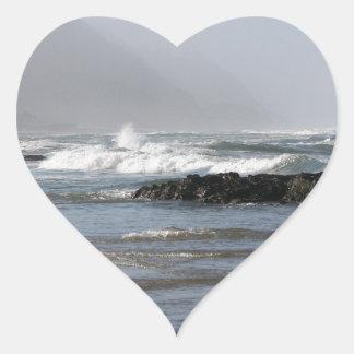 Oregon Coast Heart Sticker