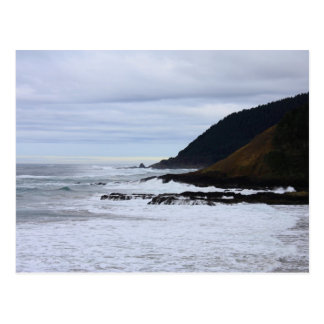 Oregon Coast in Winter Postcard