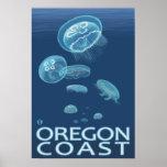 Oregon Coast Jellyfish Poster