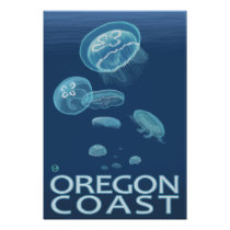 Oregon Coast Jellyfish Poster