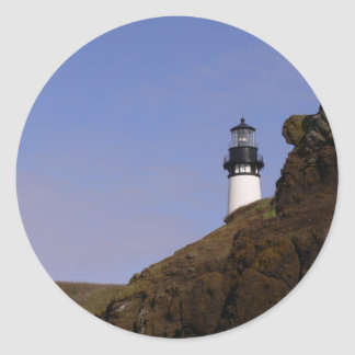 Oregon Coast Lighthouse Classic Round Sticker
