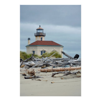 Oregon coast lighthouse poster