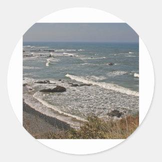 Oregon Coast near Strawberry Hill Classic Round Sticker
