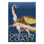 Oregon Coast Octopus Poster